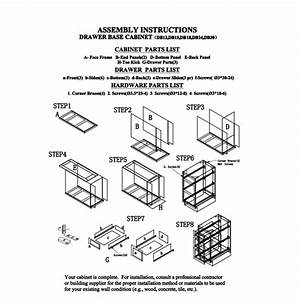 Ghi Drawer Base Cabinet Instructions
