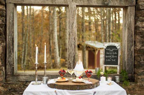 outdoor mountain wedding  green  white elements