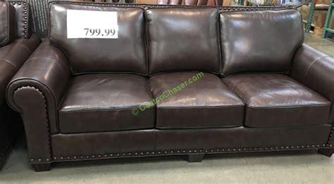 costco sofa leather simon li cambridge leather sofa thesofa