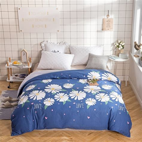 White Blanket Cover by Blue White Print Single Duvet Cover Size 200x220cm