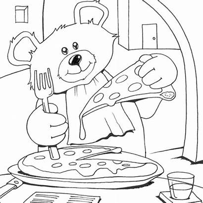 Pizza Coloring Pages Colouring Bear Teddy Printable