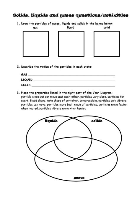 11 Best Images Of Solids Liquid Gases Elementary Worksheets  Solid Liquid And Gas Worksheets