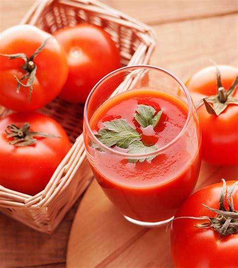 tomato juice benefits skin hair health