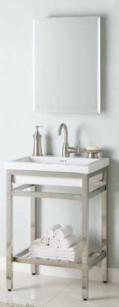 Single Sink Consoles Bathroom by 24 Inch Industrial Console Bathroom Vanity Custom
