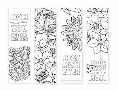Bookmarks Printable Moms Coloring Easy Diy Dazzle