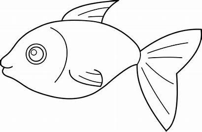 Fish Clip Outline Clipart Coloring Clipartion