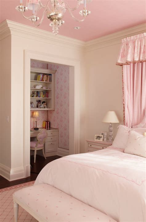 Bedroom Ideas For Pink Walls by Closet Desk Traditional S Room Wright