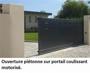 Moteur Portail Electrique : comment choisir un portillon en aluminium le portail alu ~ Premium-room.com Idées de Décoration