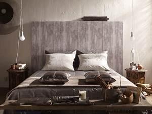 Tete De Lit Bois Vieilli : le papier peint a effet fait le mur chez leroy merlin d co ~ Teatrodelosmanantiales.com Idées de Décoration