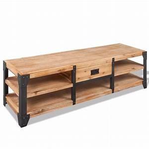 acheter vidaxl meuble tv 140 x 40 x 45 cm bois d39acacia With meuble 40 x 40