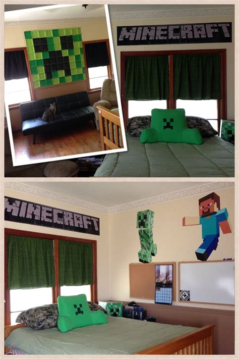 miroir mural chambre cool minecraft bedrooms room decorating ideas
