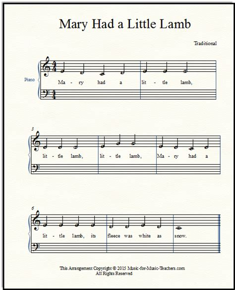Mary had a little lamb its fleece was white as snow. Mary Had a Little Lamb for Beginner Piano -- How to Add Chords