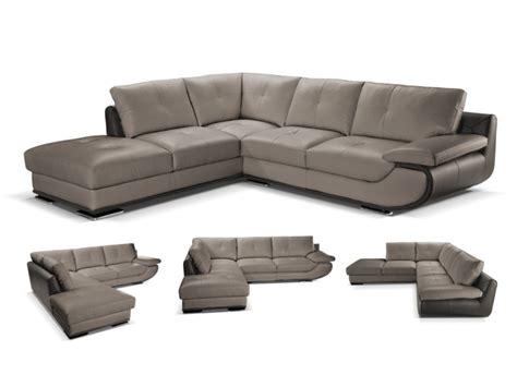 canapé d angle cuir gris anthracite canapé d 39 angle gauche cuir luxe orgullosa gris anthracite
