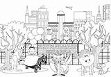 Coloring Pages Park Outline Skyenimals Animal Animals Skye Bella sketch template