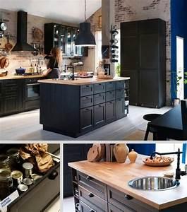 idee relooking cuisine ilot central cuisine metod ikea With ilot central cuisine avec evier