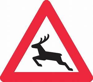 Deer Crossing Road Sign Clip Art at Clker.com - vector ...