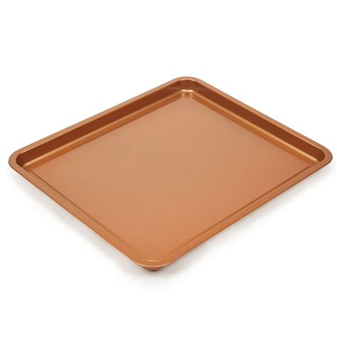 baking crisper copper sheet chef bacon oven tray pan crisp air safe stick non fry dishwasher fat without oil amazon