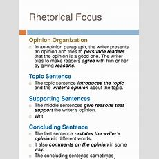 Academic Writing (opinion Paragraph