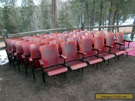 1 row of 6 antique vintage american seating co wood