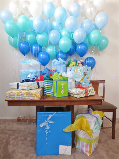 balloon wall baby shower decorations baby shower baby boy baby shower table