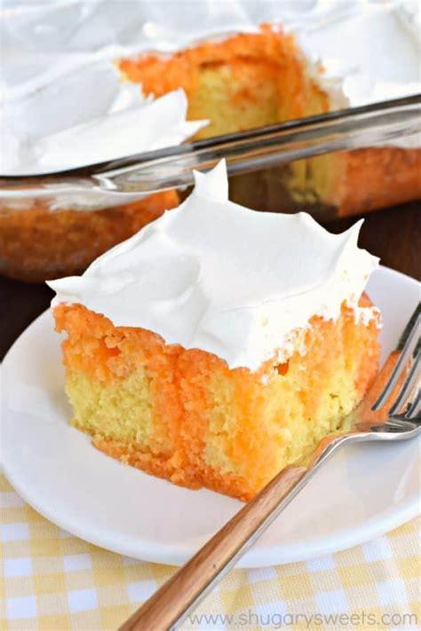 lemon orange jell  cake shugary sweets
