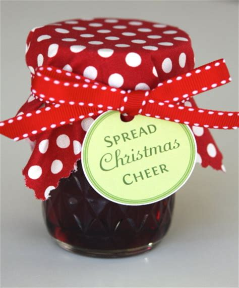 spread christmas cheer jelly jar labels
