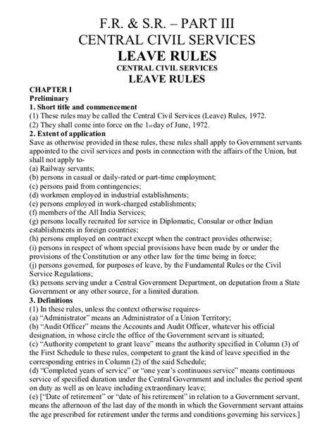 Ccs(leave rule)1972