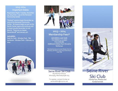 seine river ski club program brochure cross country ski association