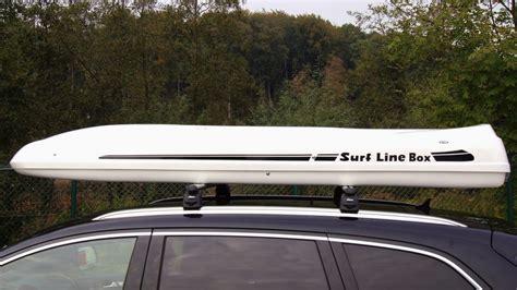 coffre de toit slb 900 avec fixation pour planche de surf coffre de toit prime en grp par mobila