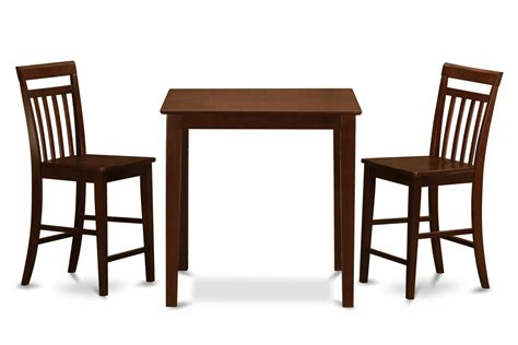 3 pc gathering table set counter height table and 2