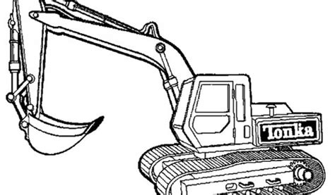 coloriage engins de chantier  imprimer tractopelle