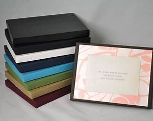 beautiful boxed invitations envelopmecom With wedding invitation box label