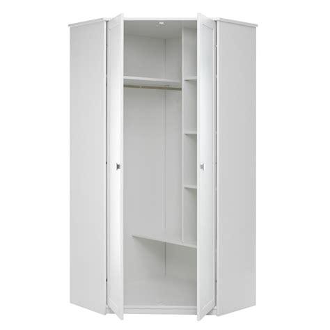 White Wardrobe Cupboard by Corner Wardrobe In White With Storage Lifetime