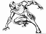 Panther Coloring Pages Printable Coloring4free Superheroes sketch template