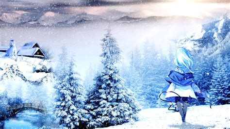 Anime Wallpapers Winter - winter anime wallpaper by atndesign on deviantart