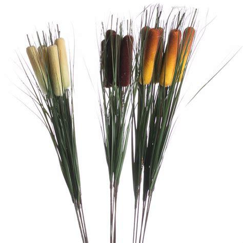 artificial cattail stems picks  stems floral