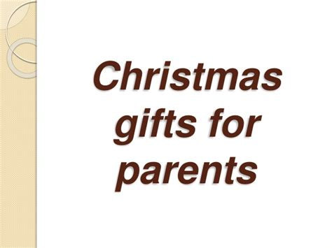 christmas gifts for parents