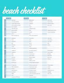 Beach Vacation Packing Lists Checklists
