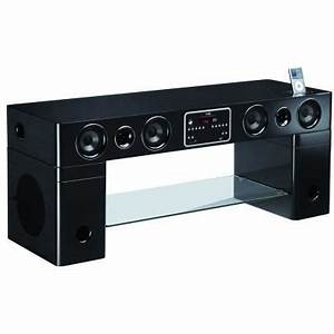 meuble home cinema tv integre watts noir achat vente With meuble tv avec home cinema integre