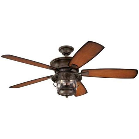 home depot 52 inch ceiling fans westinghouse brentford 52 in indoor outdoor aged walnut