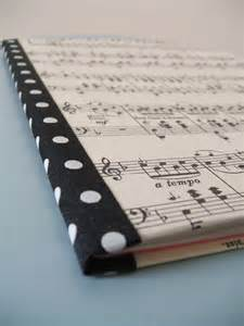 Notebook Cover Sheet Music