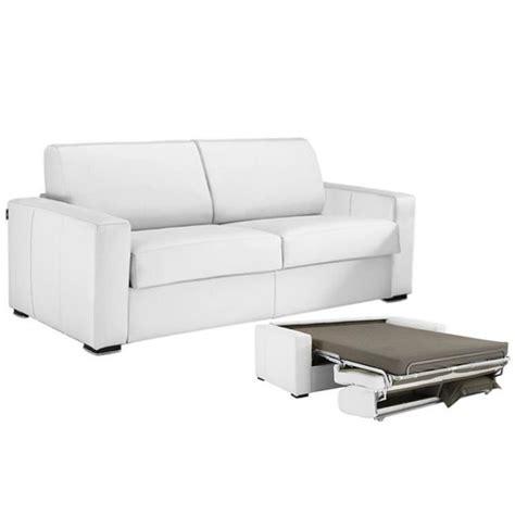 canapé cuir blanc convertible canapé convertible cuir vachette blanc 140 achat