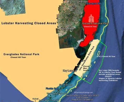 florida lobster season fishing mini lobstering area closed lobsters chart brochures law go floridagofishing