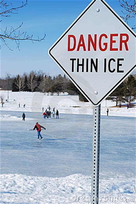 thin ice stock  image