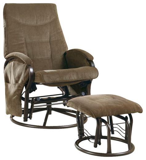 swivel rocker with ottoman monarch specialties 7253 swivel rocker recliner with
