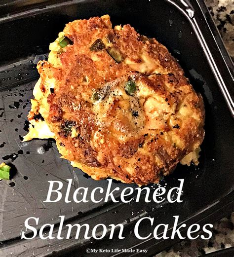 They make a pretty great appetizer too! Blackened Salmon Cakes w/ Spicy Aioli - My Keto Life Made Easy