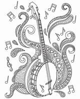 Coloring Pages Adult Mandala Adults Books Banjo Musical Instruments Sheets Colouring Relax Mandalas Colorish Apple Itunes Drawing Violin Zentangle Goodsofttech sketch template