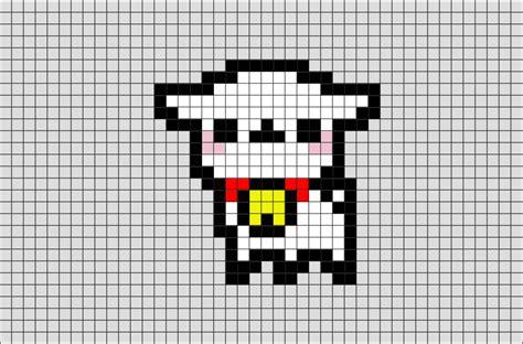 alpaca pixel art brik