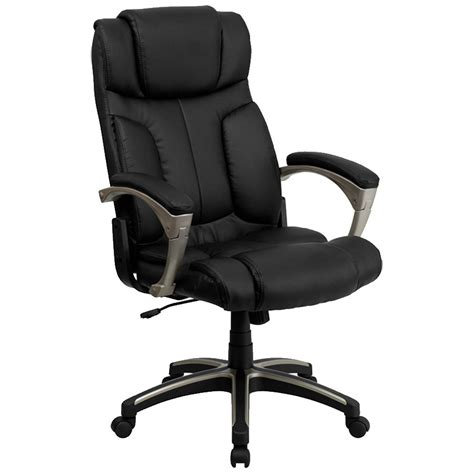 High Back Leather by High Back Folding Black Leather Executive Office Chair