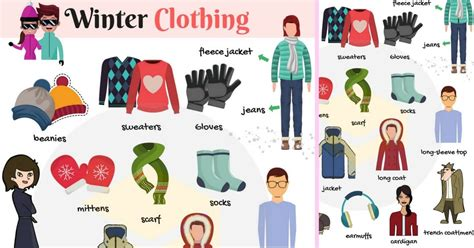 List Of Winter Clothes Names With Pictures